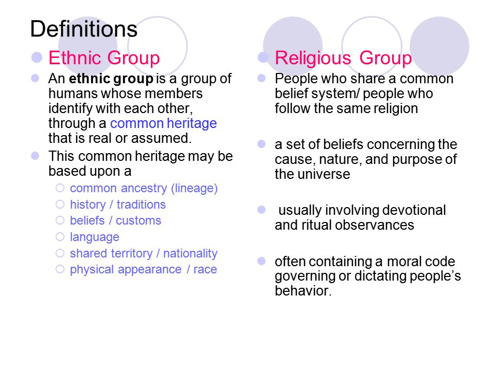 Ethnic V Religious Group Humanities Webquests